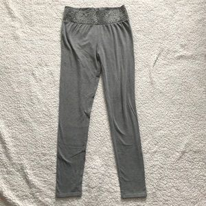 Maurices Small Gray w/ lace band in front leggings